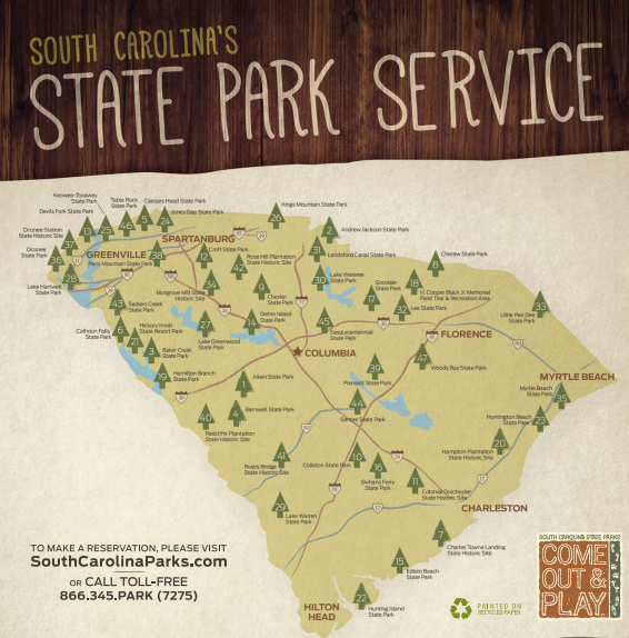 Enjoy all that Our State has to offer:  SC State Parks