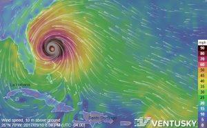 Image Of Atlantic Hurricane Projectiion